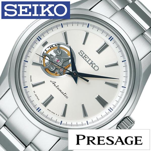 [当日出荷] セイコー プレザージュ 腕時計 SEIKO PRESAGE 時計 プレサージュ 腕時計 メンズ シルバー SARY051 [ セイコー腕時計 メカニカル 機械式 自動巻 腕時計 ビジネス スーツ ドレス かっこいい おしゃれ 男性 女性 ベルト アナログ プレゼント ギフト ] [ ]