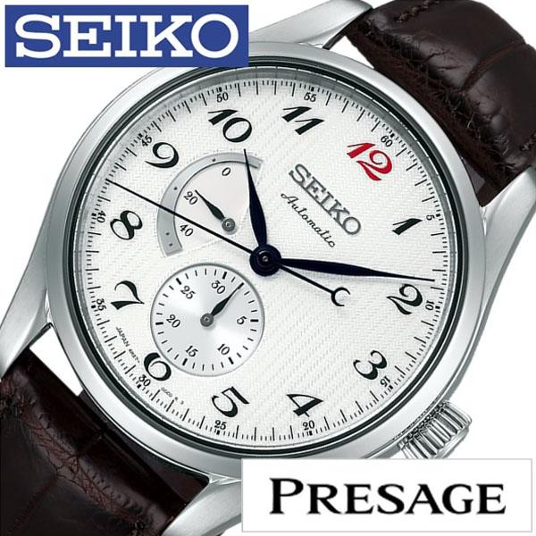 【延長保証対象】セイコー プレザージュ 腕時計 SEIKO PRESAGE 時計 プレサージュ 腕時計 メンズ ホワイト SARW025 [ セイコー腕時計 メカニカル 機械式 自動巻 腕時計 ビジネス カジュアル スーツ ドレス 男性 女性 ベルト アナログ ]