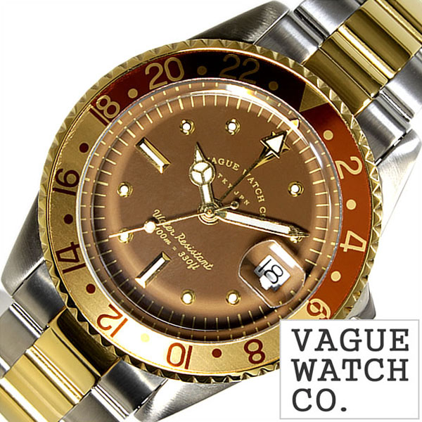 [当日出荷] ヴァーグウォッチ 腕時計 VAGUEWATCH Co. 時計 ヴァーグ ウォッチ 時計 VAGUE WATCH Co. 腕時計 ブラウン ジーエムティー BRWN GMT メンズ ブラウン BG-L-001-SB バードウォッチ バーグウォッチ 人気 ブランド アンティーク メタル ベルト ナイロン ゴールド [ ]