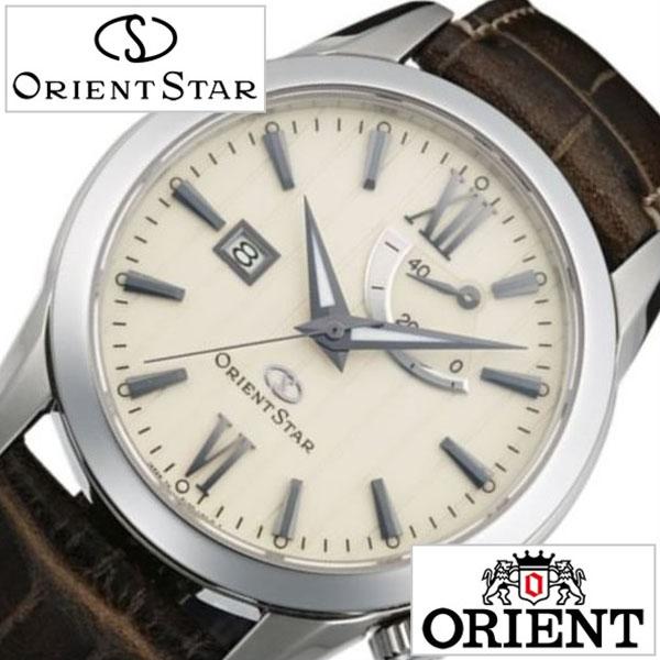 オリエント 腕時計 ORIENT 時計 オリエント腕時計 オリエント時計 ORIENT腕時計 オリエントスター パワーリザーブ Orient Star Power Reserve メンズ クリーム WZ0361EL 人気 ブランド 革 ベルト 機械式 自動巻 メカニカル 正規品 国産 オリエント スター