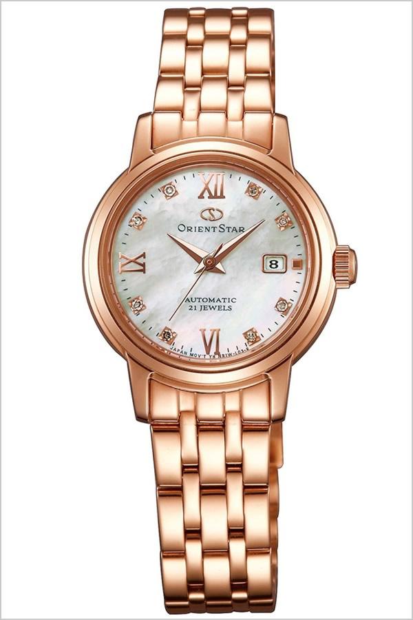 オリエント 腕時計 ORIENT 時計 オリエント腕時計 オリエント時計 ORIENT腕時計 オリエントスター スタンダード Orient Star Standard レディース ホワイト WZ0451NR 人気 ブランド メタル ベルト 機械式 自動巻 メカニカル 正規品 国産 ピンクゴールド