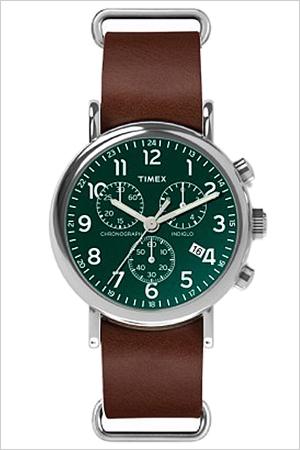 【5年保証対象】タイメックス 腕時計 TIMEX 時計 ウィークエンダー クロノ Weekender Chrono メンズ グリーン TW2P97400 ファッションウォッチ カジュアルウォッチ ミリタリーウォッチ ブラウン シルバー クロノグラフ プレゼント ギフト
