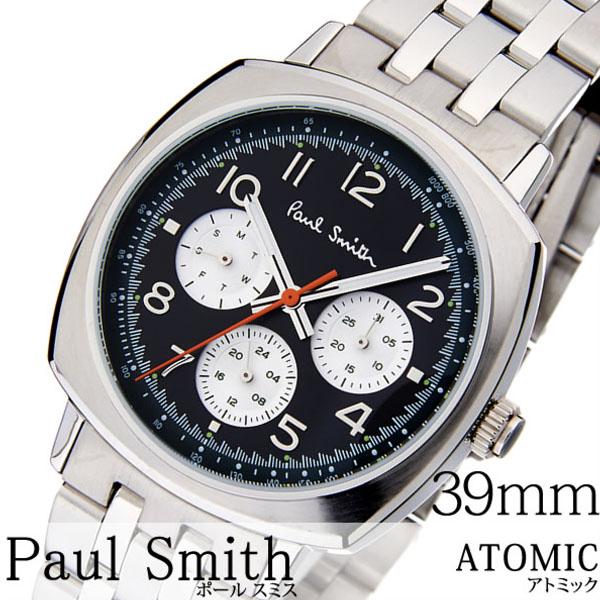 ポールスミス 時計 paul smith 腕時計 ポール スミス 腕時計 paul smith 時計 アトミック ATOMIC メンズ ブラック P10043 新作 メタル ベルト トレンド ブランド 人気 ギフト プレゼント シルバー ビジネス シンプル 送料無料