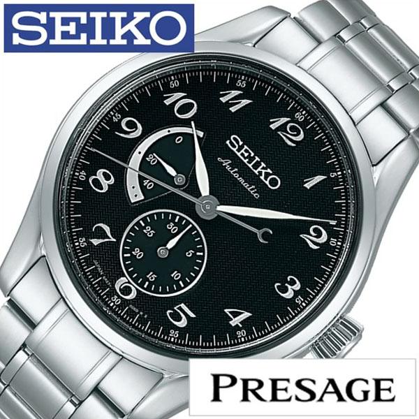 【5年保証対象】セイコー プレサージュ 腕時計 SEIKO PRESAGE 時計 セイコー 時計 SEIKO 腕時計 メンズ ブラック SARW029 新作 人気 正規品 ブランド 防水 メタル ベルト 機械式 自動巻 ギフト プレゼント シルバー