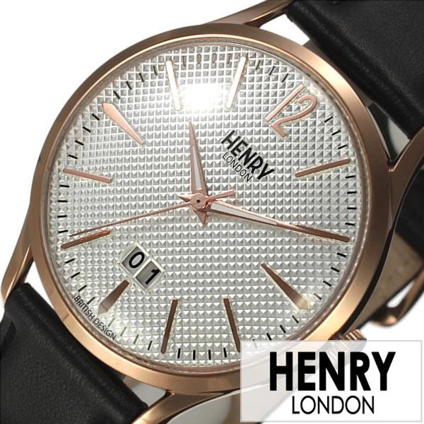 [当日出荷] ヘンリーロンドン 腕時計 HENRYLONDON 時計 ヘンリー ロンドン HENRY LONDON リッチモンド RICHMOND メンズ レディース ホワイト HL41-JS-0038 [ ブランド イギリス 防水 シンプル 革 レザー ベルト ブラック ピンクゴールド ] [ プレゼント ギフト 新生活 ]