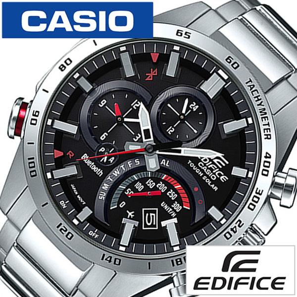 【延長保証対象】カシオ 腕時計 CASIO 時計 エディフィス EDIFICE メンズ ブラック EQB-501XD-1A [ ソーラー メンズ腕時計 ステン タフソーラー ビジネス スーツ カジュアル おしゃれ アウトドア 機能的 高級感 彼氏 旦那 夫 ][ バーゲン ]