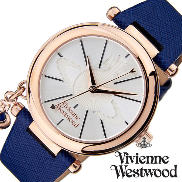 ヴィヴィアンウエストウッド 腕時計 VivienneWestwood 時計 ヴィヴィアン ウエストウッド 時計 Vivienne Westwood 腕時計 ヴィヴィアン 時計 オーブ ポップ レディース シルバー VV006RSBL 新作 人気 ブランド 革 レザー ギフト プレゼント ブルー ローズゴールド