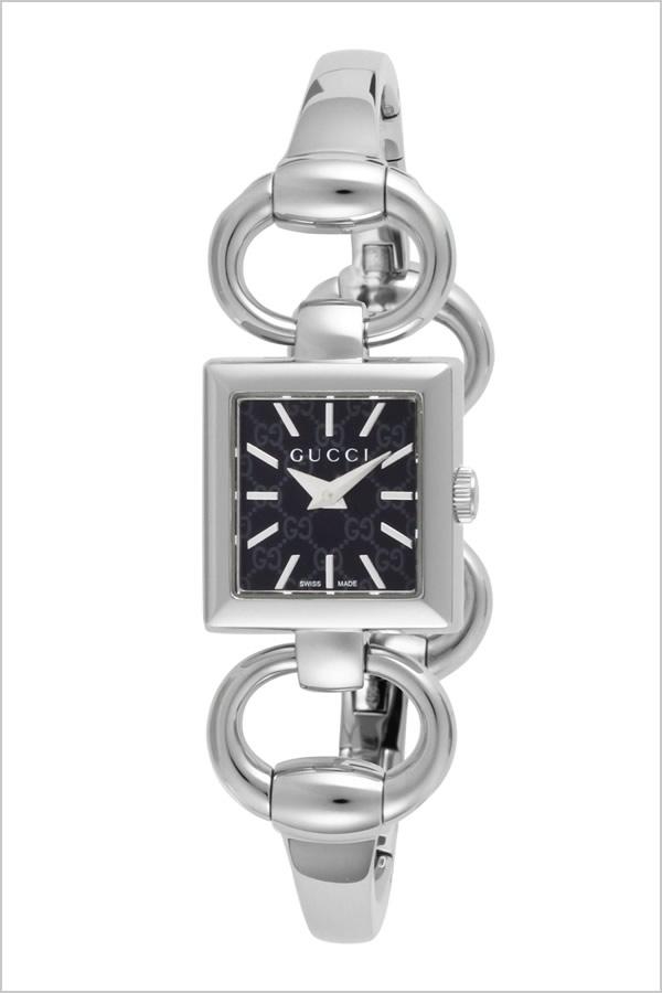 グッチ 腕時計 GUCCI 時計 グッチ 時計 GUCCI 腕時計 トルナヴォーニレディース ブラック YA120513 人気 ブランド 防水 高級 プレゼント ギフト メタル ベルト シルバー
