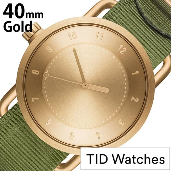 【5年保証対象】ティッドウォッチ 腕時計 TIDWatches 時計 ティッド ウォッチ 時計 TID Watches 腕時計 メンズ ゴールド SET-TID01-GD40-NGR 正規品 人気 流行 ブランド 革 レザーベルト 北欧 シンプル グリーン ナイロン 送料無料