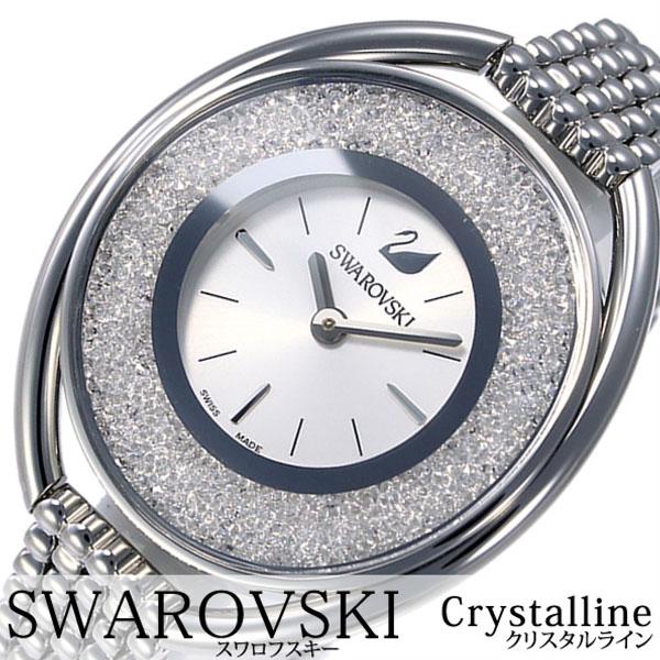 スワロフスキー 腕時計 Swarovski 時計 スワロフスキー 時計 Swarovski 腕時計 クリスタルライン Crystalline レディース ホワイト 5181008 人気 ブランド クリスタル スイス製 シルバー メタル 送料無料[ プレゼント ギフト ホワイトデー ]