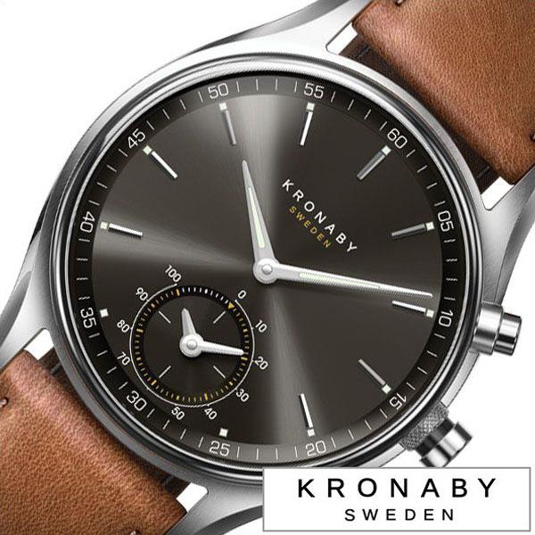 クロナビー 腕時計 KRONABY 時計 クロナビー 時計 KRONABY 腕時計 セイケル SEKEL メンズ ブラック A1000-1905 正規品 北欧 革 レザー スマートウォッチ ラウンド アプリ カレンダー GPS ハイスペック ブルートゥース ビジネス シンプル ブラウン 送料無料