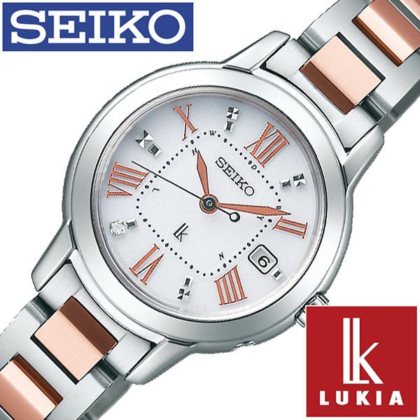 【延長保証対象】セイコー 腕時計 SEIKO 時計 セイコー 時計 SEIKO 腕時計 ルキア LUKIA レディース ホワイト SSQW037 正規品 ビジネス スーツ オフィスカジュアル シンプル ラウンド ローズゴールド チタン ソーラー 電波時計