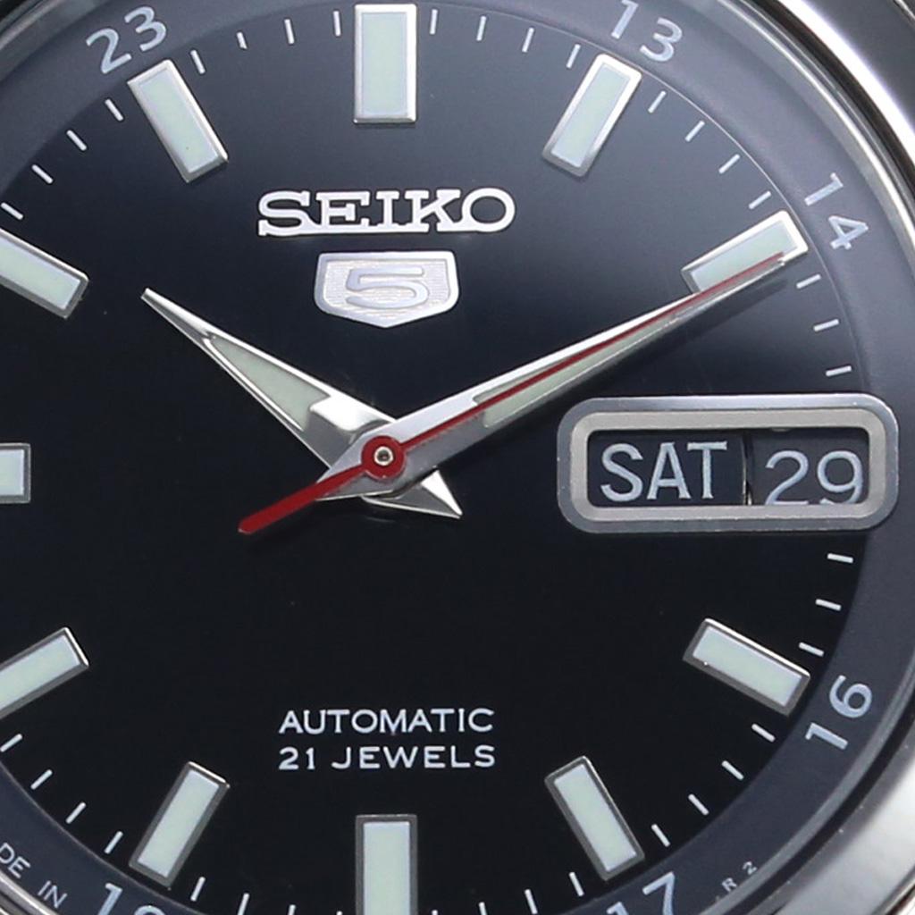 セイコー 腕時計 SEIKO 時計 セイコー 時計 SEIKO 腕時計 セイコー5 SEIKO5 メンズ ブラック SNKG23J1 人気 海外モデル ブランド 防水 機械式 自動巻き メタルベルト ビジネス スーツ オフィス メカニカル シルバー