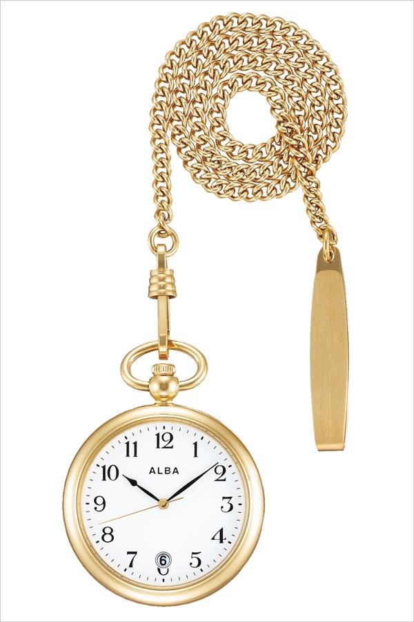 【5年保証対象】セイコー 懐中時計 SEIKO 時計 セイコー 時計 SEIKO 懐中時計 アルバ ポケット ウオッチ ALBA Pocket Watch ユニセックス メンズ レディース AQGK446 定番 懐中時計 レトロ アンティーク おしゃれ ファッション ラウンド ステンレス ゴールド
