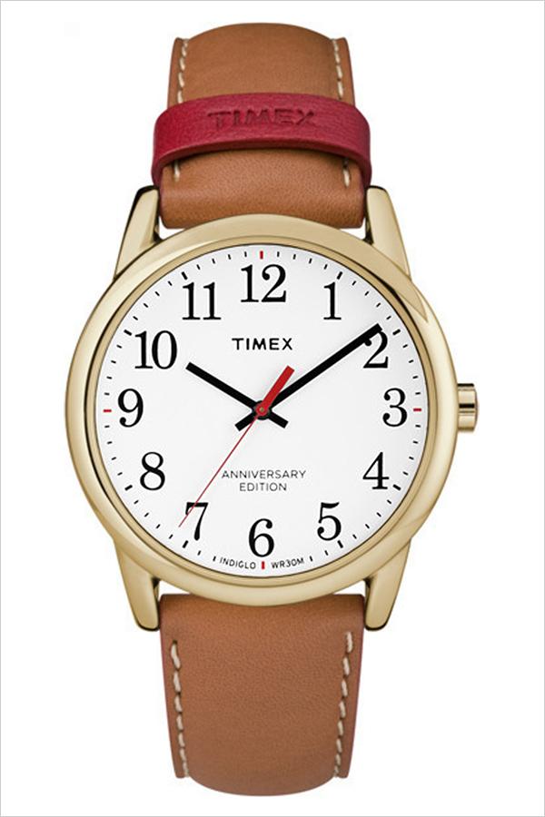 【5年保証対象】タイメックス 腕時計 TIMEX 時計 タイメックス 時計 TIMEX 腕時計 イージーリーダー 40周年記念モデル EASY READER 40TH ANNIVERSARY メンズ ホワイト TW2R40100 定番 ブランド 人気 記念 革 レザー ゴールド ブラウン レッド プレゼント ギフト