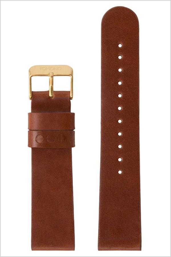 【純正替えベルト】コモノ 腕時計ベルト KOMONO コモノ KOMONO 腕時計ベルト 時計バンド ベルト レザー ウィンストン ワルサー対応 メンズ レディース KOM-ST1056 [ 替えベルト 時計バンド 定番 メンズ レディース レザー ゴールド プレゼント ギフト]