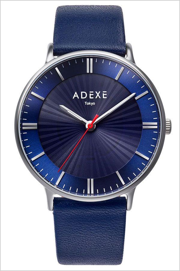 アデクス 腕時計 ADEXE時計 ADEXE 腕時計 アデクス 時計 メンズ レディース 腕時計 ブルー ADX-1868I-01 [ 正規品 おしゃれ シンプル ラウンド 日本限定 ロゴ ソーラー ファッションウォッチ カジュアル スーツスタイル オフィス 革 レザー ]