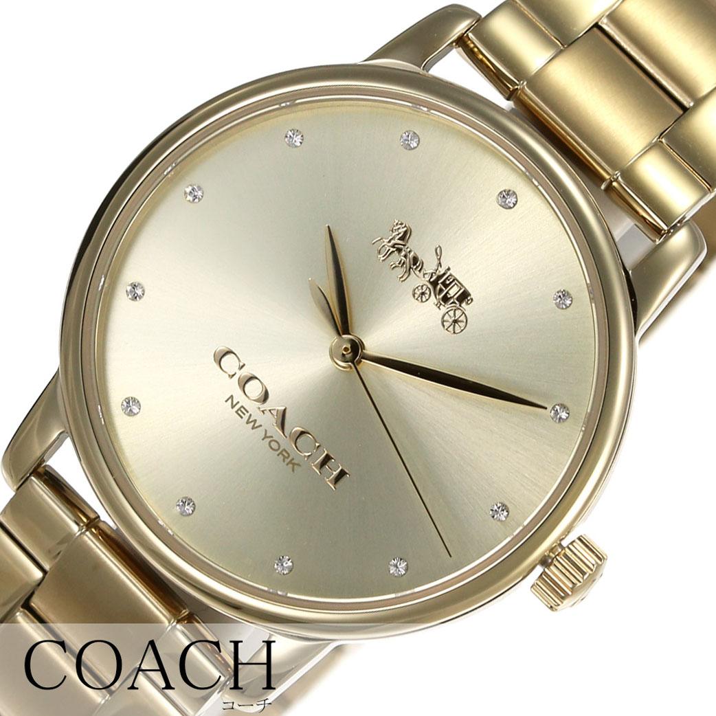 727d3710b4dc コーチ腕時計COACH時計COACH腕時計コーチ時計グランドGRANDレディース腕時計ゴールド14502927[ブランド
