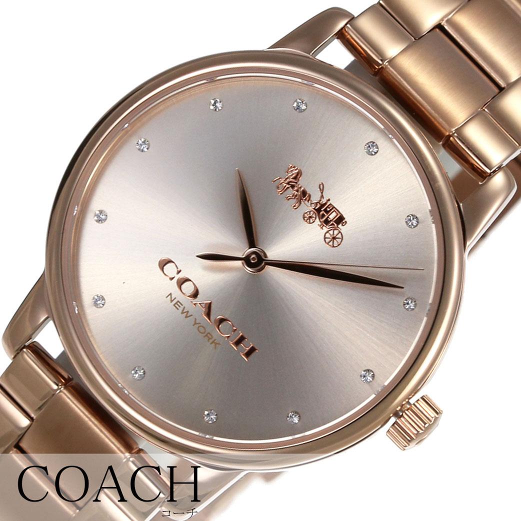 7e127a3308e7 コーチ腕時計COACH時計COACH腕時計コーチ時計グランドGRANDレディース腕時計ピンクゴールド14502929[