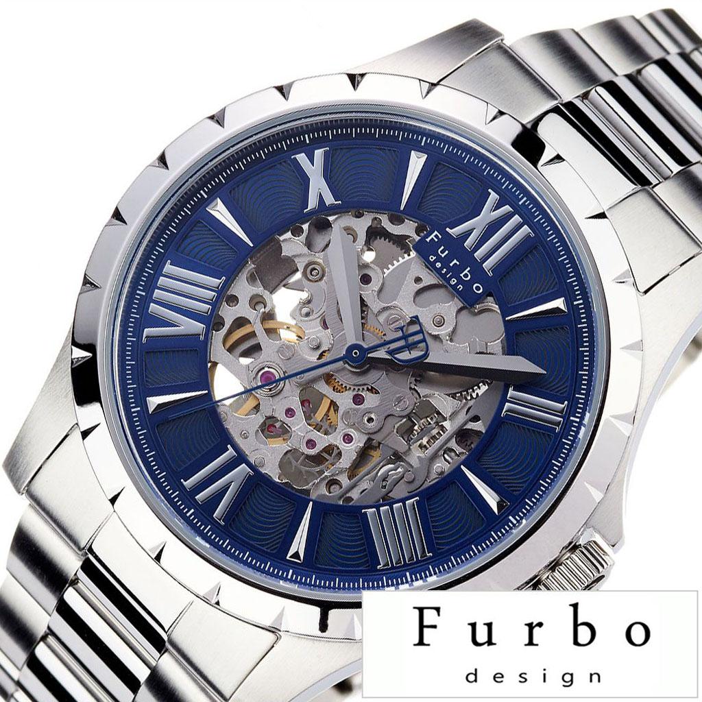 [当日出荷] フルボデザイン 腕時計 Furbodesign 時計 FURBO design 腕時計 フルボ デザイン 時計 メンズ腕時計 ブルー F5021SNVSS [ ブランド 防水 シルバー ステンレス スーツ ビジネス カジュアル おしゃれ 機械式 メカニカル スケルトン ] [ プレゼント ギフト 新生活 ]