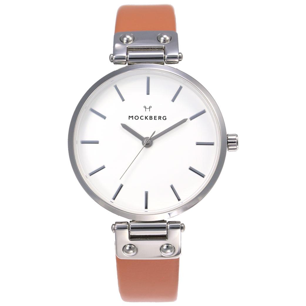 モックバーグ 腕時計 MOCKBERG 時計 MOCKBERG腕時計 モックバーグ腕時計 ハンナ Hanna レディース ホワイト MO117 [ レディース腕時計 腕時計レディース 恋 正規品 ブランド パステル かわいい おしゃれ おすすめ シンプル 北欧 ファッション カジュアル ピンク 革 レザー ]