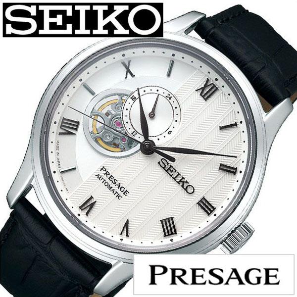 【延長保証対象】セイコー プレザージュ 腕時計 SEIKO PRESAGE 時計 プレサージュ 腕時計 メンズ腕時計 ホワイト SARY095 [ セイコー腕時計 メカニカル 機械式 自動巻 腕時計 ビジネス カジュアル スーツ ドレス かっこいい おしゃれ 男性 女性 ベルト アナログ 送料無料 ]