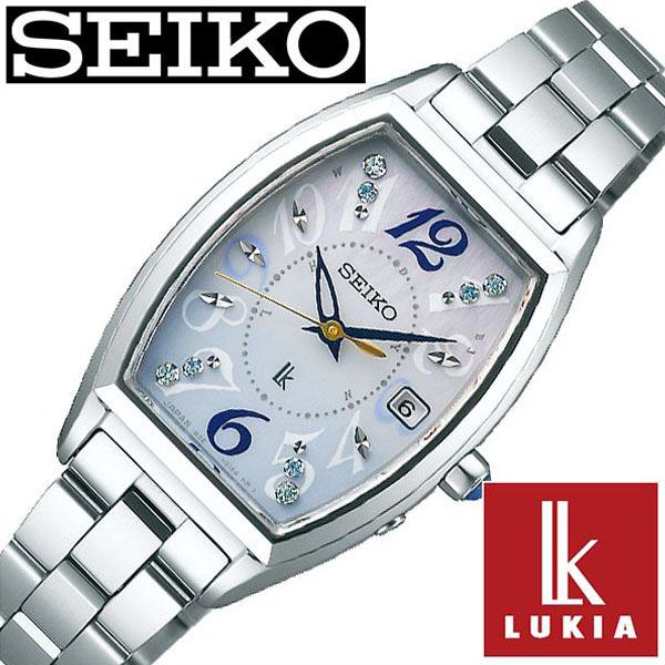 【延長保証対象】セイコー 腕時計 SEIKO 時計 SEIKO 腕時計 セイコー 時計 ルキア LUKIA レディース腕時計 白蝶貝 SSVW123 [ ブランド トノー 防水 白蝶貝 シェル ソーラー 電波時計 シルバー かわいい 就活 ][ プレゼント ギフト ホワイトデー ]