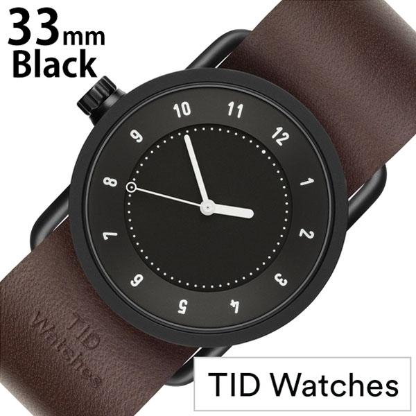 【延長保証対象】ティッドウォッチ 腕時計 TIDWatches 時計 TIDWatches 腕時計 ティッドウォッチ 時計 No.1 33mm レディース腕時計 ブラック TID01-BK33-W [ 人気 ブランド シンプル ミニマル おしゃれ 北欧 レザー 革 ペアウォッチ ][ プレゼント ギフト バレンタイン ]