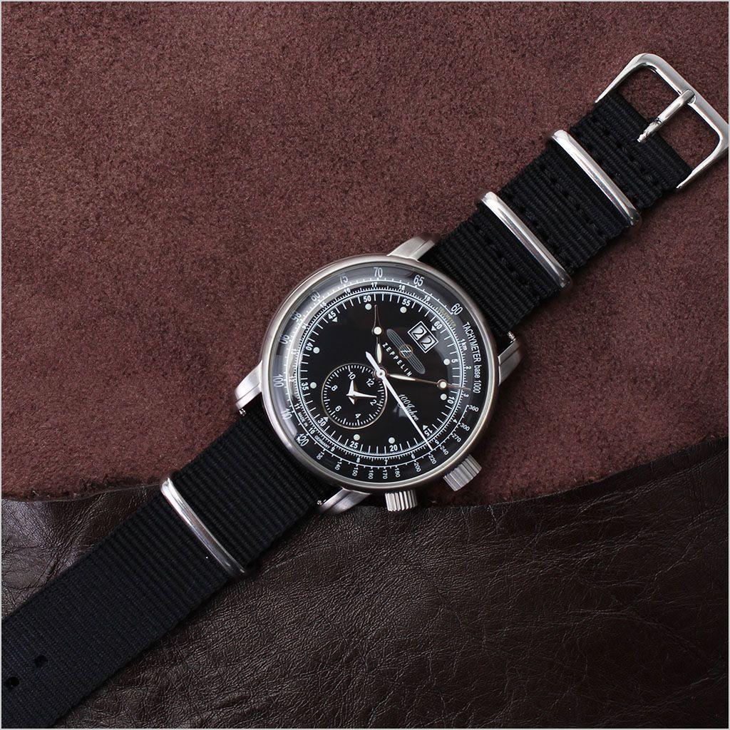 ナイロン ナトー 替えベルト 腕時計 ベルト NYLON NATO BELT 腕時計ベルト 時計バンド ベルト ブラック 18mm メンズ レディース 男女兼用 BT-NYL-BK-SV-18 [ 高品質 替えベルト カジュアル ファッション おしゃれ ビジカジ アウトドア ミリタリー 休日 オフ ]