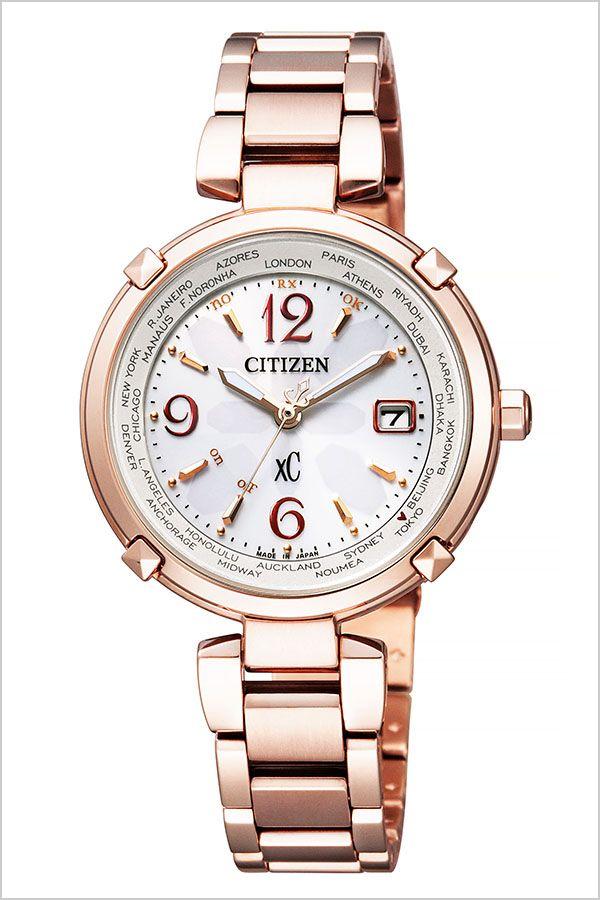 【延長保証対象】シチズン 腕時計 CITIZEN 時計 CITIZEN腕時計 シチズン時計 クロスシー xC レディース ホワイト EC1047-57A [ ブランド ラウンド 防水 ソーラー 電波 電波ソーラー チタン ローズゴールド かわいい おしゃれ 就活 ]
