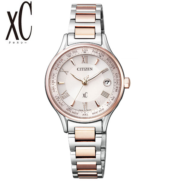 シチズン クロスシー 腕時計 CITIZEN xC 時計 レディース ピンク EC1165-51W [ アナログ サクラピンク ラウンド 電波 人気 おしゃれ ファッション ブランド ビジネス WARAWAT ] [ プレゼント ギフト 新生活 ]