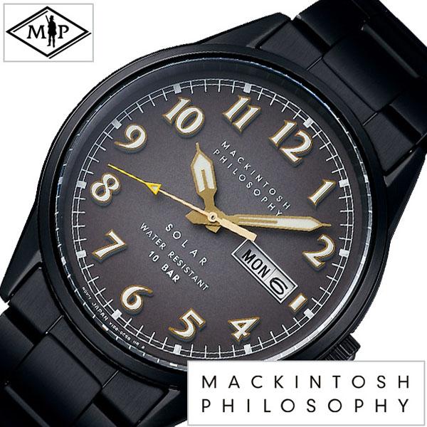 【延長保証対象】マッキントッシュフィロソフィー 腕時計 MACKINTOSH PHILOSOPHY 時計 マッキントッシュ フィロソフィー メンズ ブラック FBZD703 [ ラウンド ゴールド ブランド カレンダー シンプル ビジネス ファッション カジュアル ] [ プレゼント ギフト 新生活 ]