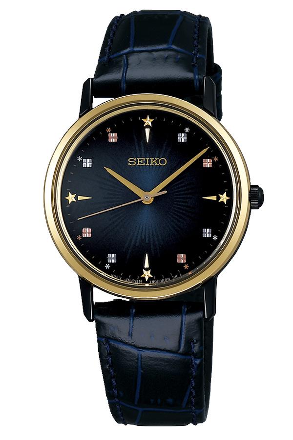 913df8be3857d7 セイコーセレクション腕時計 時計 セイコー 腕時計 TID セイコーセレクション 時計 レディース Gショック ネイビー SCXP142 [ ラウンド  アナログ ゴールド 革 ...