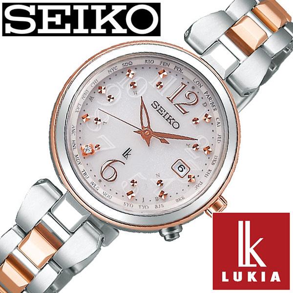 【延長保証対象】セイコー ルキア 腕時計 SEIKO LUKIA 時計 レディース シルバー SSQV048 [ 女性 大人 おとな可愛い ダイヤ ゴールド カレンダー プレゼント ギフト シンプル ラウンド ビジネス ファッション カジュアル かわいい ]