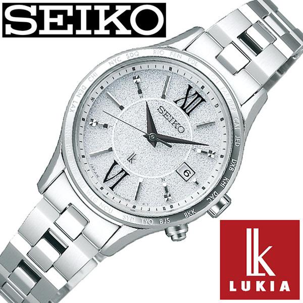 【延長保証対象】セイコー ルキア 腕時計 SEIKO LUKIA 時計 レディース シルバー SSVV035 [ 女性 大人 おとな可愛い ラメ シンプル ペア ダイヤ ラウンド かわいい カレンダー ファッション カジュアル ビジネス ][ プレゼント ギフト 新春 2020 ]