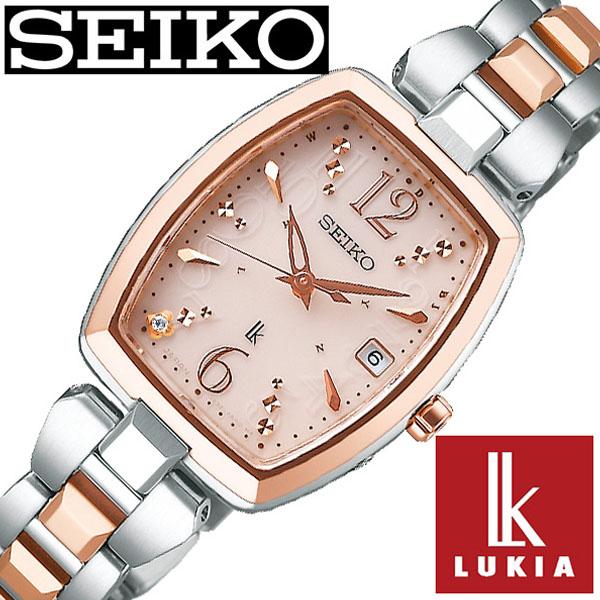 セイコー ルキア 腕時計 SEIKO LUKIA 時計 レディース ピンク SSVW126 [ 女性 大人 おとな可愛い シンプル ゴールド カレンダー ダイヤ かわいい ファッション カジュアル ][ プレゼント ギフト 新春 2020 ]