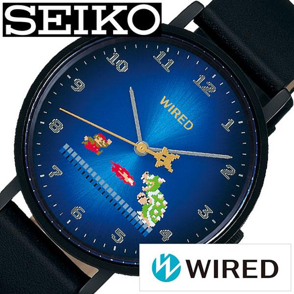 【延長保証対象】セイコー 腕時計 SEIKO 時計 SEIKO腕時計 セイコー時計 ワイアード WIRED メンズ ブルー AGAK706 [ メンズ腕時計 腕時計メンズ スーパーマリオ マリオ クッパ ファミコン ファッション カジュアル レア 男性 ペア ペアウォッチ リンクコーデ 成人式 成人 ]