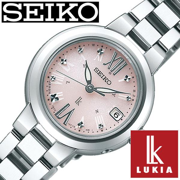 【延長保証対象】セイコー 腕時計 SEIKO 時計 SEIKO腕時計 セイコー時計 ルキア LUKIA レディース ピンク SSVW137 [ レディース腕時計 腕時計レディース ソーラー 電波 おしゃれ かわいい ファッション ビジネス スーツ ラウンド 女性 仕事 ] [ プレゼント ギフト ]