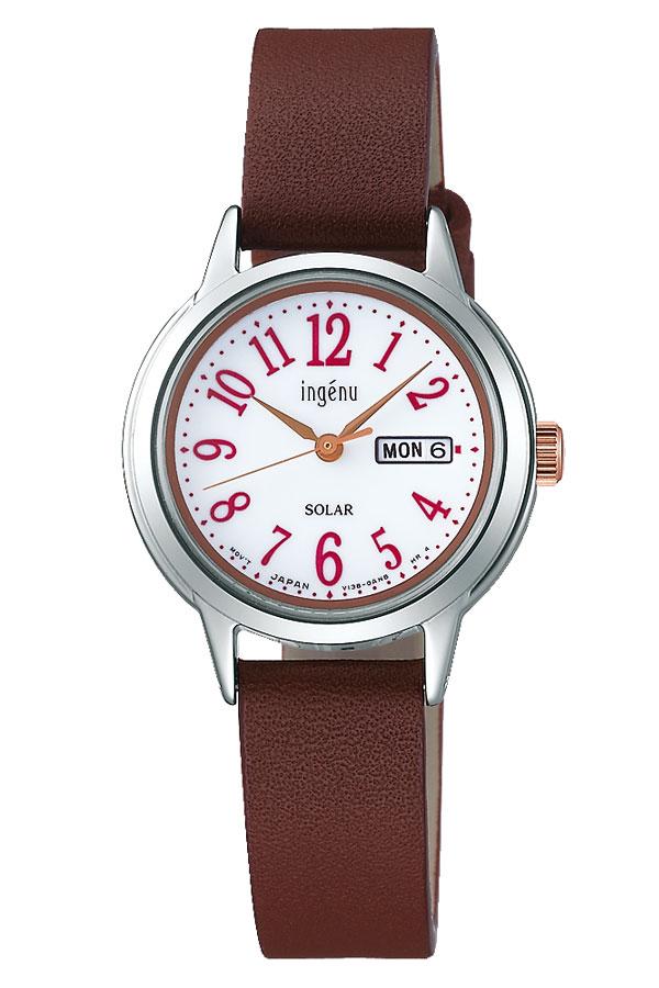 【延長保証対象】セイコー 腕時計 SEIKO 時計 SEIKO 腕時計 セイコー 時計 アルバ アンジェーヌ ALBA INGENU レディース 腕時計 ホワイト AHJD110 [ シルバー ゴールド 革 シンプル 人気 プレゼント ギフト ラウンド かわいい カレンダー ファッション カジュアル ビジネス ]