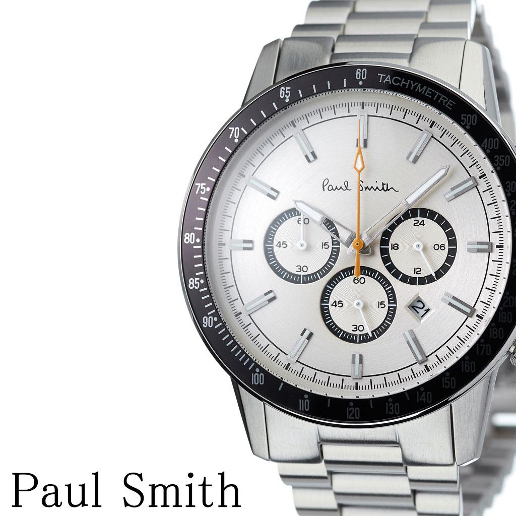 [当日出荷] ポールスミス 腕時計 Paulsmith 時計 Paulsmith腕時計 ポールスミス時計 メンズ シルバー PS0110008 [ メンズ腕時計 腕時計メンズ 人気 お洒落 流行 ブランド クロノ シンプル アナログ ビジネス ラウンド ] [ プレゼント ギフト 新生活 ]