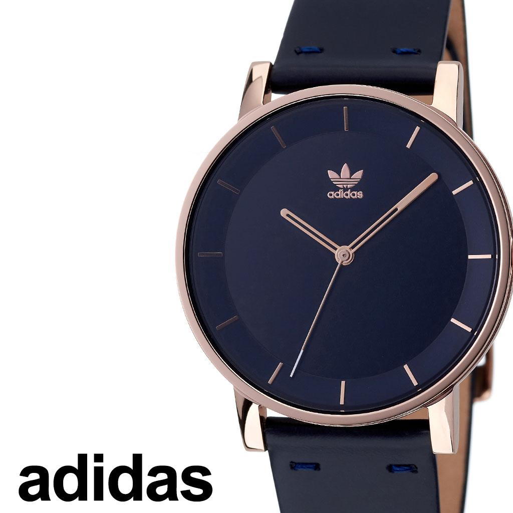 [当日出荷] アディダス 腕時計 adidas 時計 adidas腕時計 アディダス時計 ディストリクトエル1 DISTRICT_L1 メンズ レディース ネイビー Z08-2918-00 [ 人気 お洒落 流行 ゴールド ブランド ラウンド 革 シンプル アナログ カジュアル プレゼント ギフト ]