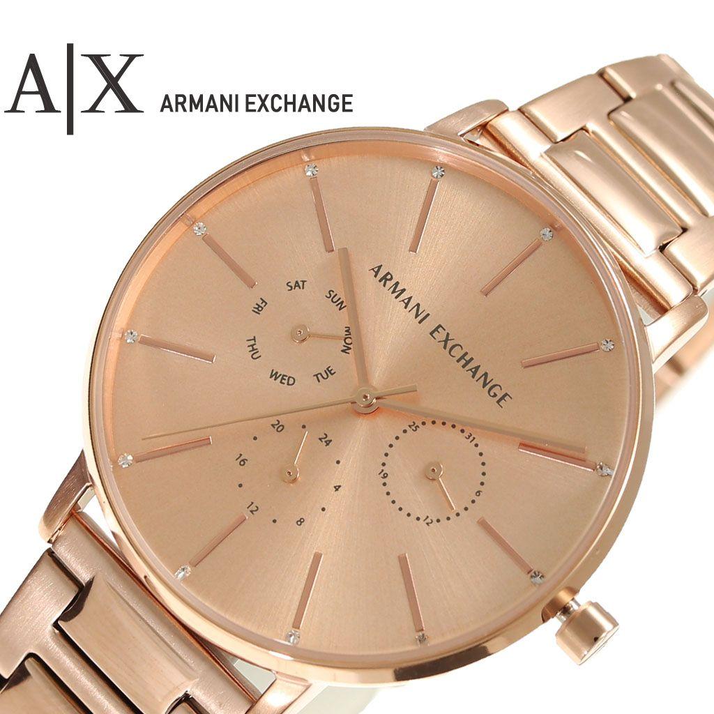 [当日出荷] アルマーニ エクスチェンジ 腕時計 ARMANI EXCHANGE 時計 レディース 腕時計 ピンクゴールド AX5552 [ 人気 ブランド 防水 クール 女性 妻 嫁 彼女 スーツ ステンレス おしゃれ 就職 祝い クロノ AX 高級 ビジネス メタル ] [ プレゼント ギフト 新生活 ]