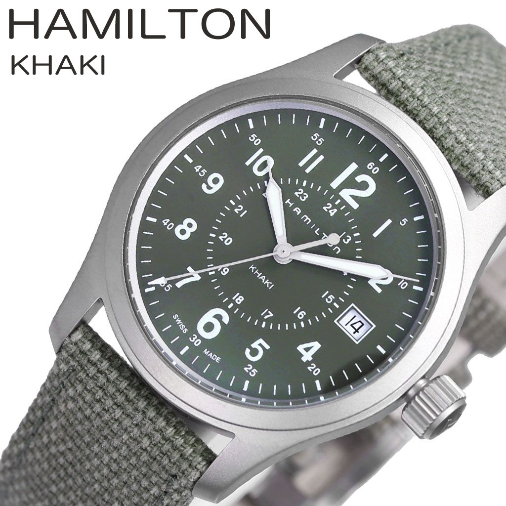 Hamilton Watch Hamilton Clock Khaki Field Khaki Field Men Watch Green H68201963 Latest Popular Recommended Brand Waterproofing High Quality Present