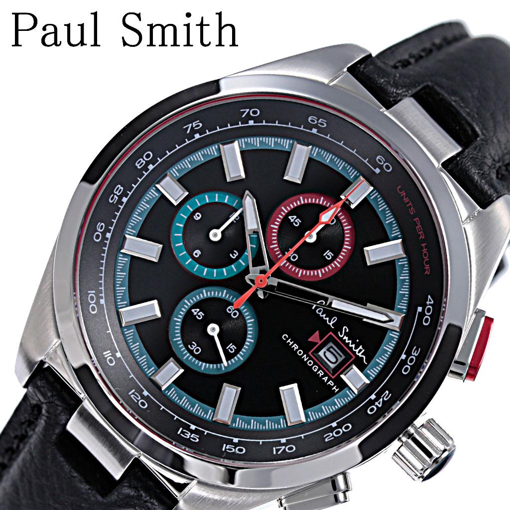 [当日出荷] ポールスミス 腕時計 Paulsmith 時計 メンズ ブラック PS0110011 [ 人気 ブランド おすすめ 防水 レザー ベルト カジュアル シンプル 上品 クラシカル オシャレ クロノグラフ スーツ 仕事 オフィスカジュアル ] [ プレゼント ギフト 新生活 ]