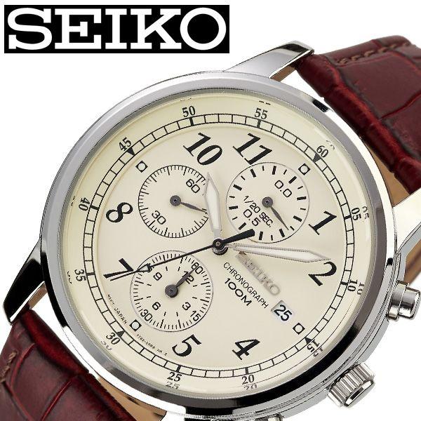 [あす楽]セイコー 腕時計 SEIKO 時計 メンズ クリーム SNDC31P1 [ 人気 ブランド 旦那 夫 彼氏 逆輸入 限定 定番 おしゃれ ファッション シンプル フォーマル スーツ 仕事 商社 ][ プレゼント ギフト バレンタイン ]