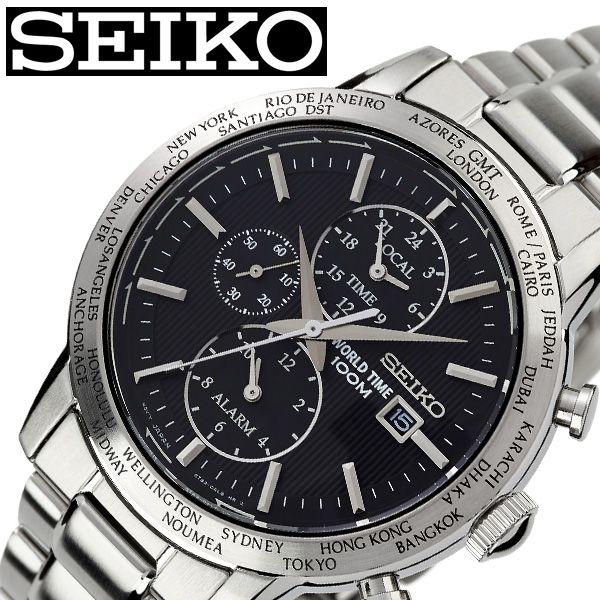 セイコー 腕時計 SEIKO 時計 メンズ ブラック SPL049P1 [ 人気 ブランド おすすめ 防水 ステンレス ベルト 逆輸入 限定 社会人 スーツ 仕事 ビジネス 大人 かっこいい 上品 ] [ プレゼント ギフト 新生活 ]:腕時計専門店ハイブリッドスタイル