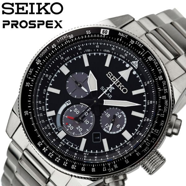 [当日出荷] セイコー 腕時計 SEIKO 時計 プロスペックス PROSPEX メンズ ブラック SSC607P1 [ 人気 ブランド 防水 ソーラー ステンレス ベルト メタル 逆輸入 限定 社会人 スーツ 仕事 ビジネス カレンダー かっこいい おしゃれ 上品 ] [ プレゼント ギフト 新生活 ]