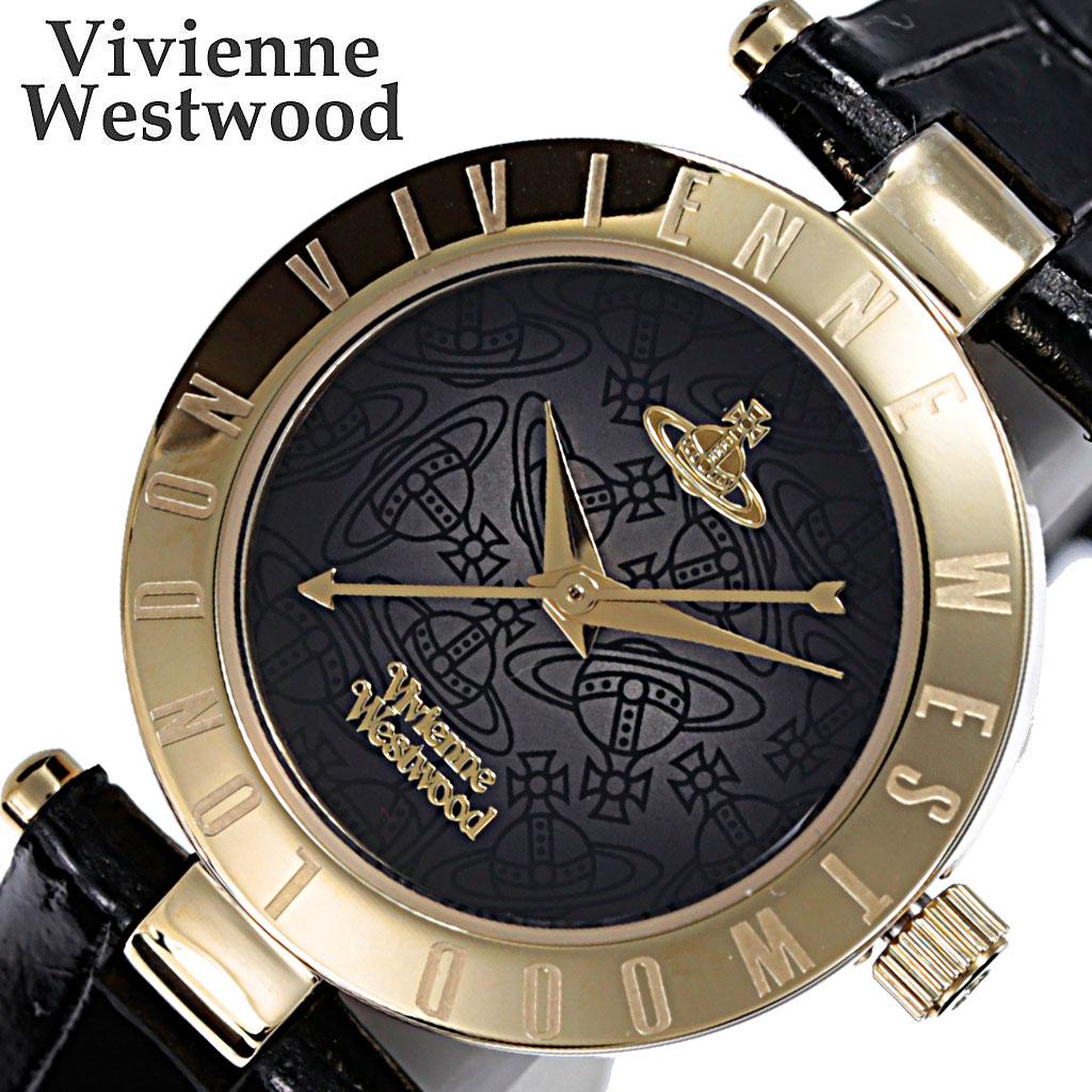 [当日出荷] ヴィヴィアンウエストウッド 腕時計 VivienneWestwood 時計 レディース ブラック VV092BKBK [ 人気 ブランド おすすめ 防水 ビビアン ウェストウッド レザー ベルト カジュアル シンプル 上品 レトロ オシャレ 可愛い スーツ 仕事 ] [ プレゼント ギフト ]
