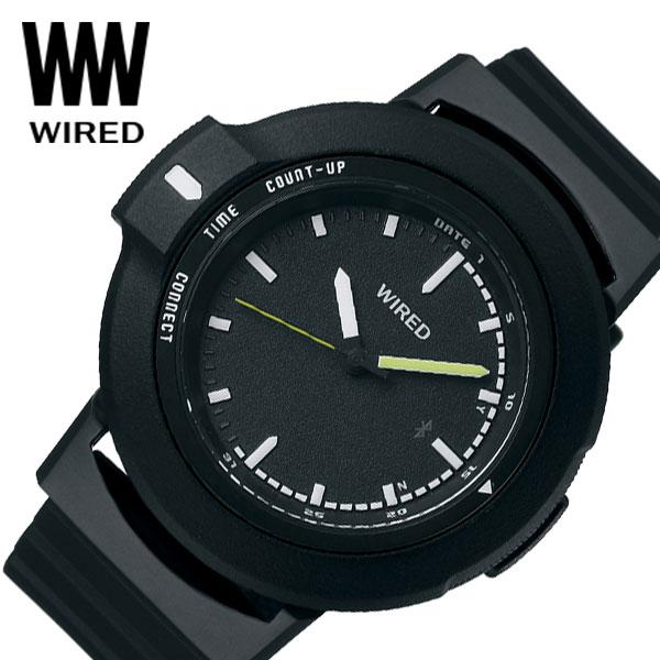 【延長保証対象】セイコー 腕時計 SEIKO 時計ワイアード ツーダブ WIRED WW TYPE01 ON メンズ 腕時計 ブラック AGAB401 [ 人気 正規品 新作 ブランド 防水 ファッション おしゃれ カジュアル Bluetooth 高機能 ] [ プレゼント ギフト 新生活 ]