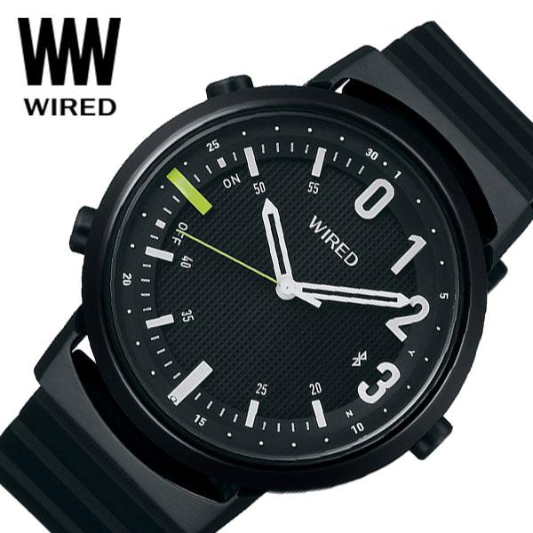 【延長保証対象】セイコー 腕時計 SEIKO 時計ワイアード ツーダブ WIRED WW TYPE02 NUMBER メンズ 腕時計 ブラック AGAB406 [ 人気 正規品 新作 ブランド 防水 ファッション おしゃれ カジュアル Bluetooth 高機能 ][ プレゼント ギフト 新春 2020 ]